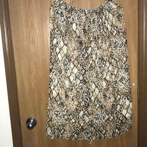 Alfred Dunner 14 Skirt Lined/Slip Accordian Style